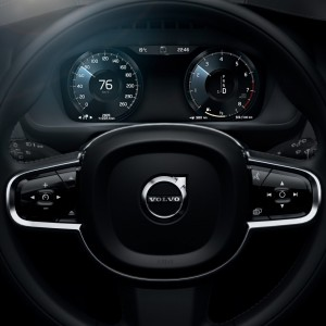 The all-new Volvo XC90 - new steering wheel and digital instrument panel