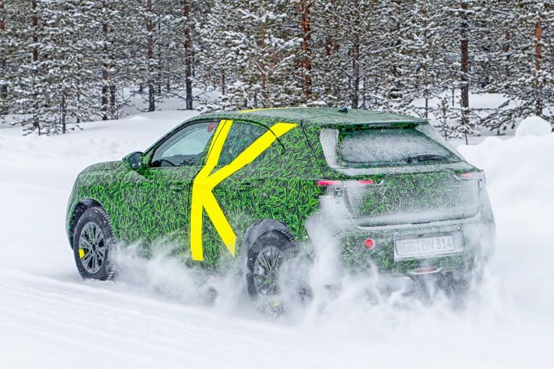 Opel Mokka bei Testfahrten in Schweden, März 2020