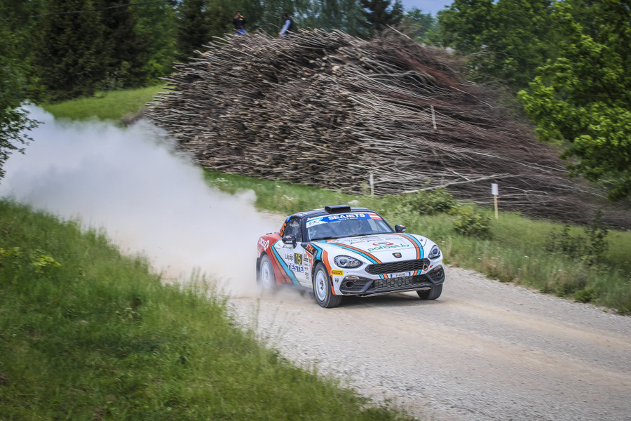 15 Reinis NITISS, (LVA), MAris KULSS, (LVA), Abarth 124 Rally , REINISNITISS.COM, action during the 2019 European Rally Championship ERC Liepaja rally,  from may 24 to 26, at Liepaja, Lettonie - Photo Gregory Lenormand / DPPI