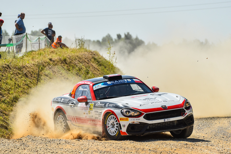 Cimowo, 30.07.2019, 76th Rally Poland. Team Abarth. fot PAP/Stach Leszczyński