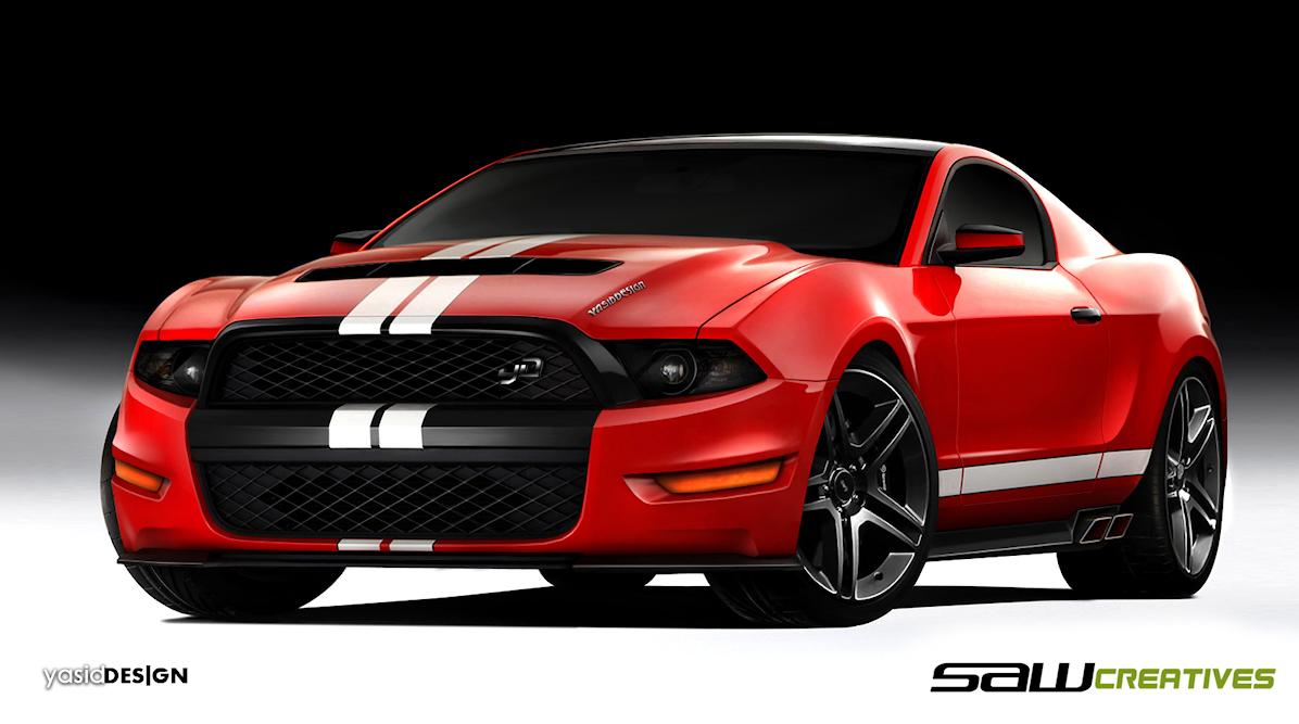 Ford mustang 2014 nieoficjalna wizualizacja