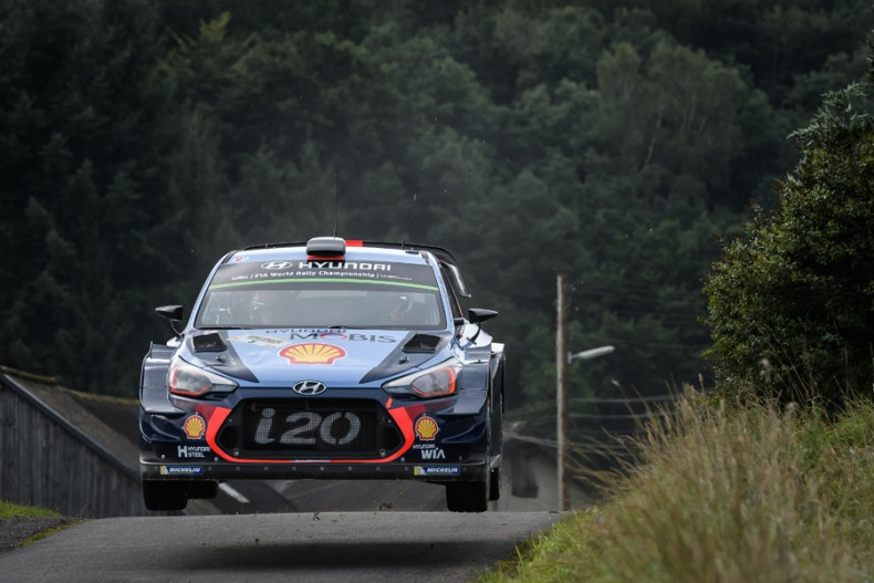 2017 FIA World Rally Championship, Round 10, Rallye Deutschland 17 - 20 August 2017, Thierry Neuville, Nicolas Gilsoul, Hyundai i20 Coupe WRC, Photographer: RaceEMotion, Worldwide copyright: Hyundai Motorsport GmbH