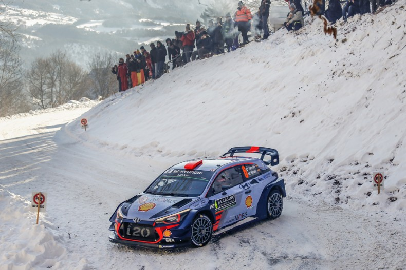 2017 FIA World Rally Championship Round 01, Rallye Monte-Carlo 16-22 January 2017 Dani Sordo, Marc Marti, Hyundai i20 Coupe WRC  Photographer: Sarah Vessely Worldwide copyright: Hyundai Motorsport GmbH