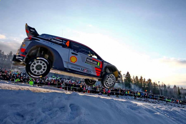 2017 FIA World Rally Championship Round 02, Rally Sweden 09-12 February 2017,  Hayden Paddon, John Kennard, Hyundai i20 Coupe WRC,  Photographer: RaceEmotion,  Worldwide copyright: Hyundai Motorsport GmbH