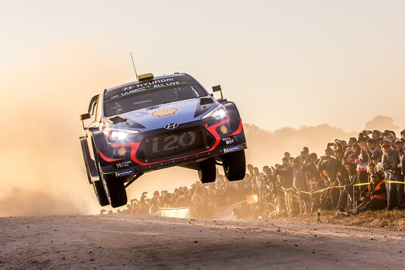 2018 FIA World Rally Championship Round 05 Rally Argentina 26-29 April  2018 Day 1 Action Andreas Mikkelsen, Anders Jaeger, Hyundai i20 Coupe WRC  Photographer: Fabien Dufour Worldwide copyright: Hyundai Motorsport GmbH