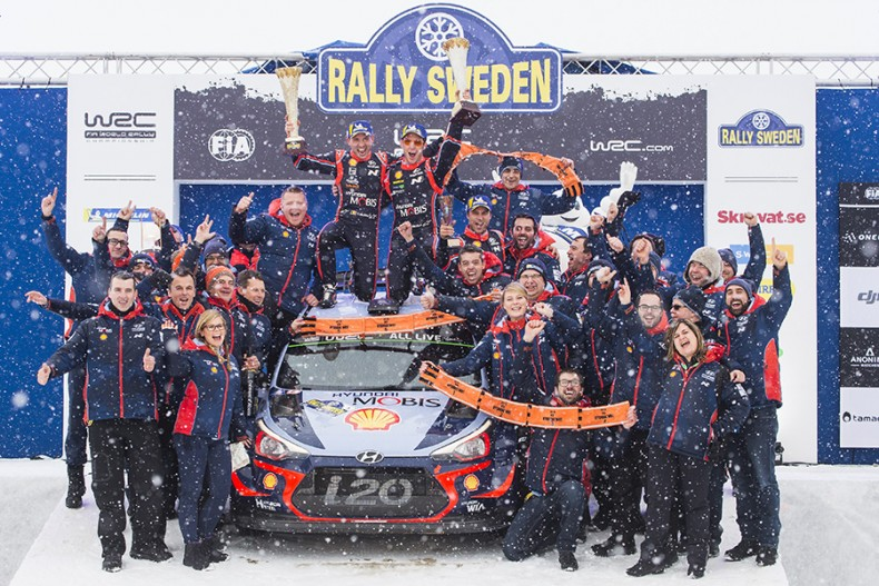 2018 FIA World Rally Championship Round 02, Rally Sweden 15-18 February 2018 Thierry Neuville, Nicolas Gilsoul, Hyundai i20 Coupe WRC  Photographer: Austral Worldwide copyright: Hyundai Motorsport GmbH