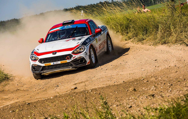 Abarth podczas Rajdu Lipawy – 2. rundy Rajdowych Mistrzostw Europy FIA 2021
