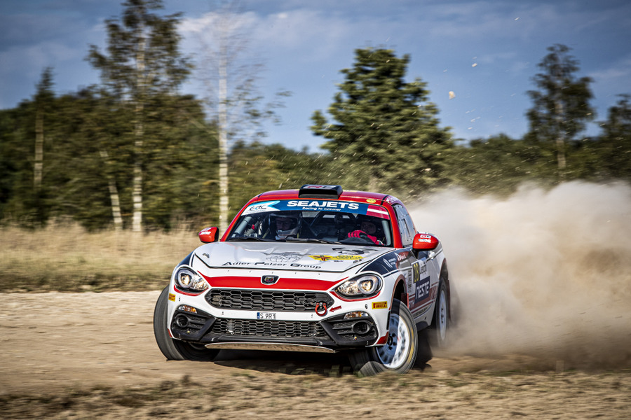 28 POLONSKI Dariusz (POL), SITEK Lukasz (POL), Team Rallytechnology, Abarth 124 Rally, action during the 2020 Rally Liepaja, 2nd round of the 2020 FIA European Rally Championship, from August 14 to 16, 2020 in Liepaja, Latvia - Photo Gregory Lenormand / DPPI