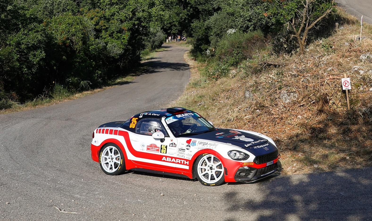 35 GOBBIN Roberto (ITA), CERVI Alessandro (ITA), Team Roberto Gobbin,  Abarth 124 Rally, action    during the 2020 Rally di Roma Capitale, 1st round of the 2020 FIA European Rally Championship, from July 24 to 26, 2020 in Rome, Italy - Photo Frédéric Le Floc'h / DPPI