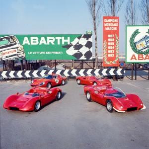 Le sport e la berlinetta Abarth, vincitrici nel Campionato Mondiale Marche