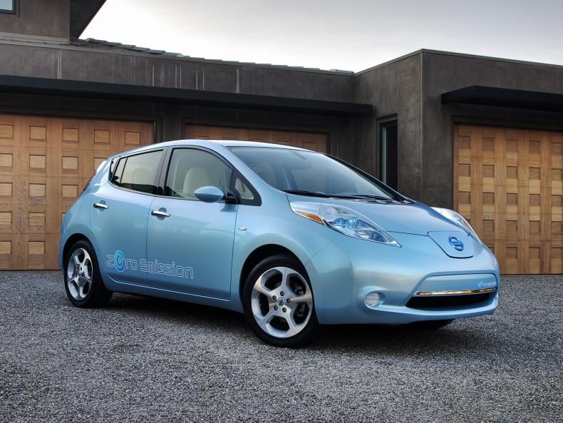 Nissan Leaf (2010) przeznaczony na rynek amerykański