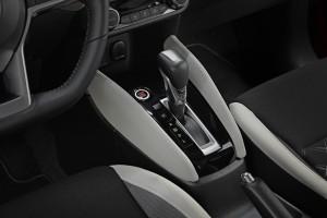 Nowe silniki w Nissanie Micra - czerwona Micra Xtronic - Interior Details - Gear stick-source