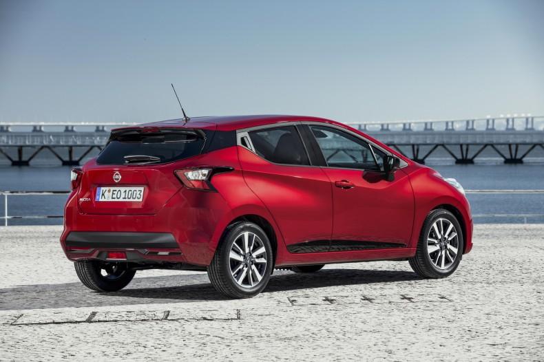 Nowe silniki w Nissanie Micra - czerwona Micra Xtronic - Static Rear 1-source