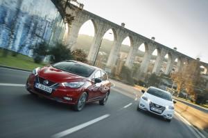 Nowe silniki w Nissanie Micra - czerwona Micra Xtronic i biala Micra N-Sport - Dynamic 1-source