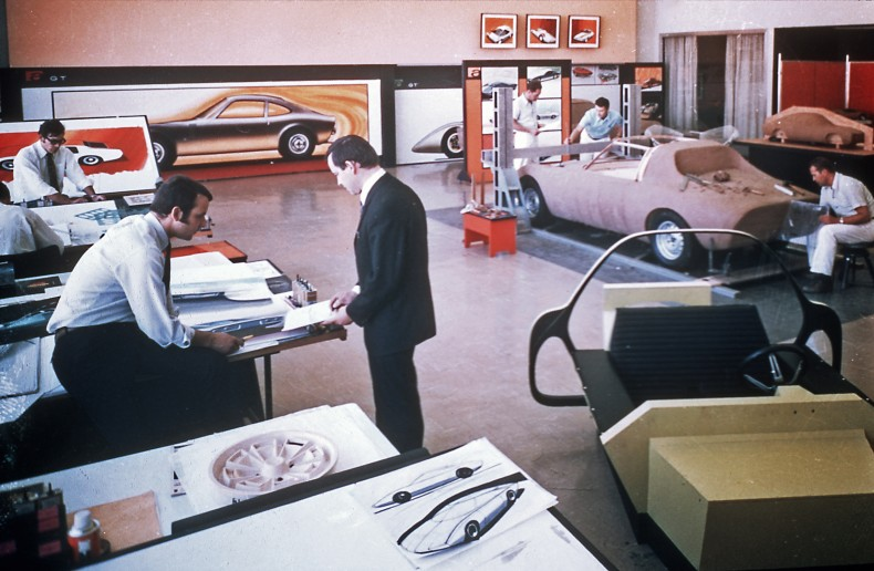 "Where visions become reality: The Rüsselsheim ""Styling Center"" was the first design center of a carmaker in Europe in the early 1960s."