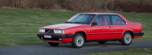 Volvo 780 from 1985. One of Pehr G Gyllenhammar's cars, custom painted in red. The car was a gift to Gyllenhammar on his 50th birthday, which was just a month or so after the car made its debut at the Geneva Motor Show. Today, the car belongs to the Volvo Museum.