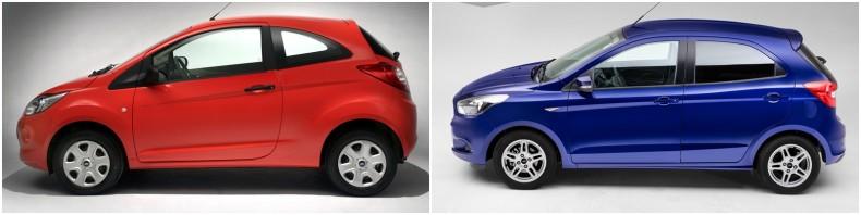 Po lewej typowy przedstawiciel segmentu A. Po prawej jego następca - budżetowe auto segmentu B