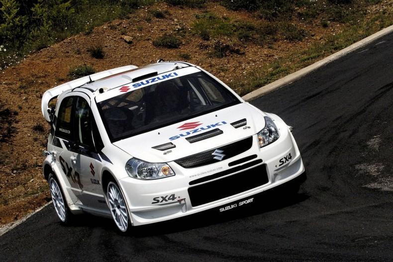 Białe barwy Suzuki podczas debiutu w WRC