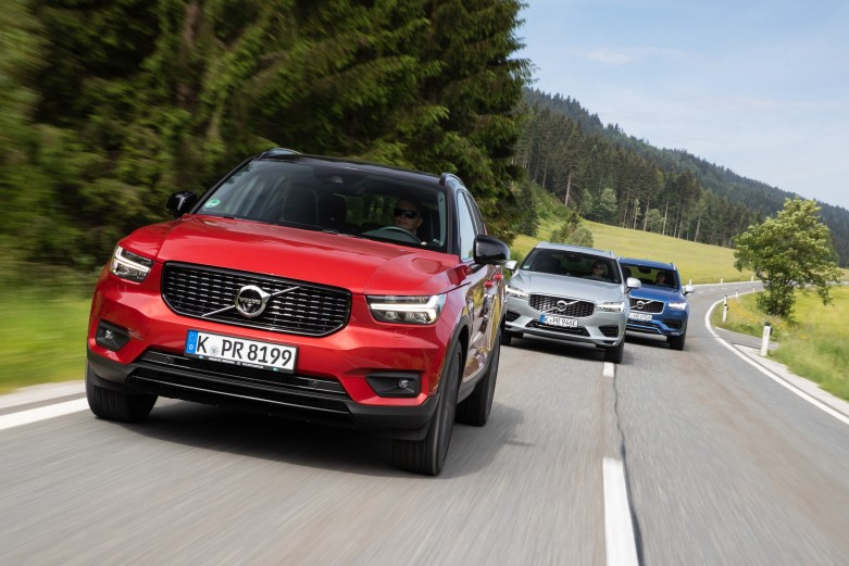 Volvo XC40, Volvo XC60 und Volvo XC90
